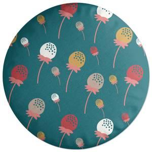 Retro Strawberries Round Cushion