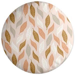 Retro Leaves Round Cushion