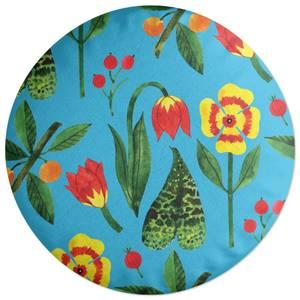 Retro Botanicals Round Cushion