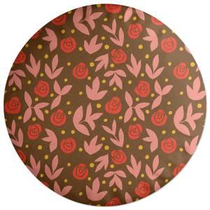 Retro Roses Round Cushion