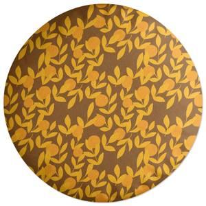 Retro Orange Tree Round Cushion