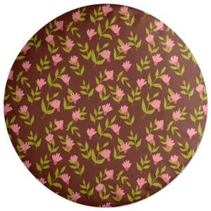 Retro Dianthus Round Cushion
