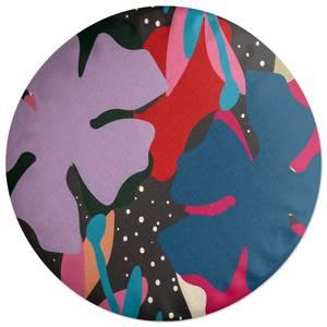 Abstract Retro Botanicals Round Cushion