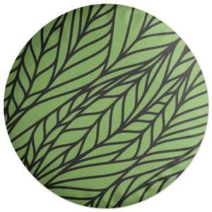 Wavy Leaves Round Cushion