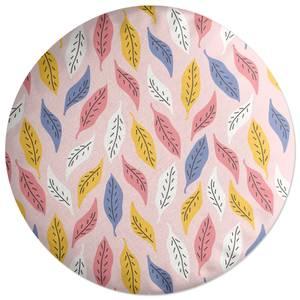 Retro Multi Leaves Round Cushion
