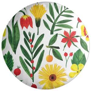 Retro Florals Round Cushion