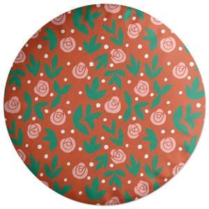 Rose Bush Round Cushion