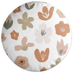 Flower Bed Round Cushion