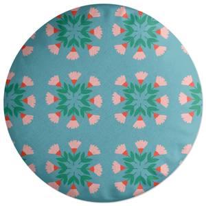 Circle Bunch Florals Round Cushion
