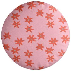 Scattered Star Flowers Round Cushion