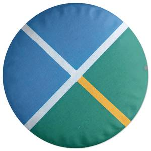 Sport Geometric Round Cushion