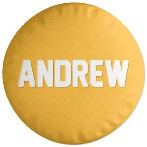 Embossed Andrew Round Cushion