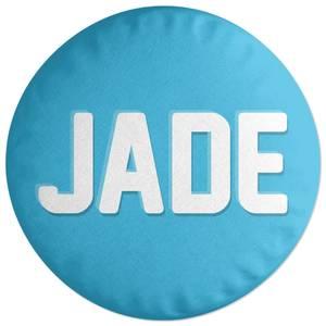 Embossed Jade Round Cushion