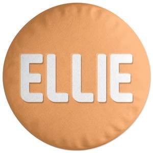 Embossed Ellie Round Cushion