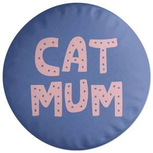 Cat Mum Round Cushion
