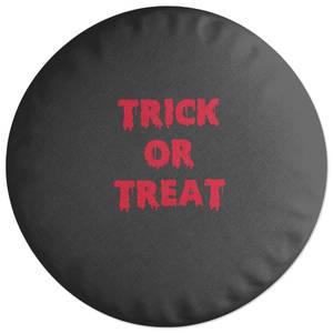 Trick Or Treat Round Cushion