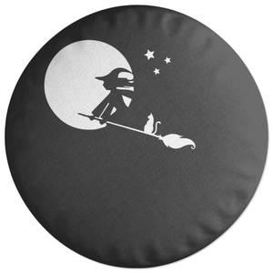 Witch Halloween Round Cushion