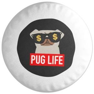 Pug Life Round Cushion