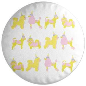 Party Dogs Round Cushion