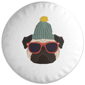 Cool Pug Round Cushion