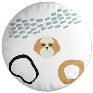 Abstract Dog Round Cushion