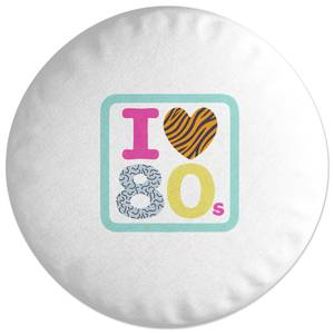 I Heart The 80s Round Cushion