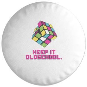 Keep It Old School Round Cushion