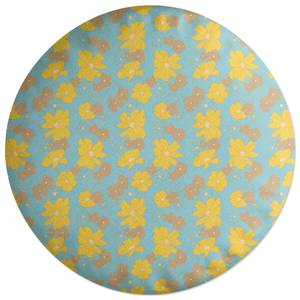 60s Floral Round Cushion