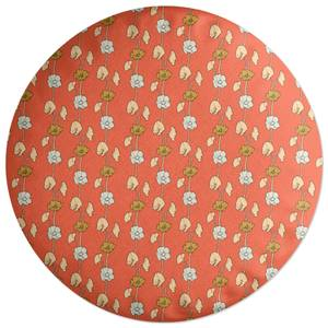 60s Small FLowers Round Cushion