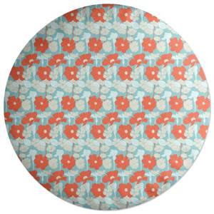 Bright 60s Flower Round Cushion
