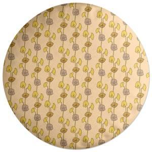 60s Light Flower Round Cushion