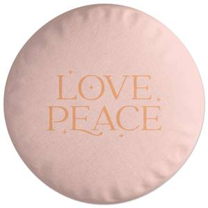 Love Peace Round Cushion