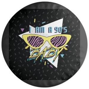 I Am A 90s Baby Graphic Round Cushion