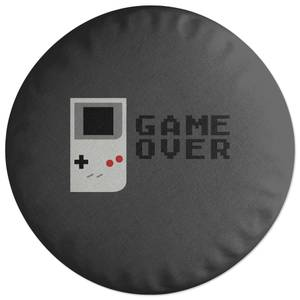 'Game Over' Graphic Round Cushion