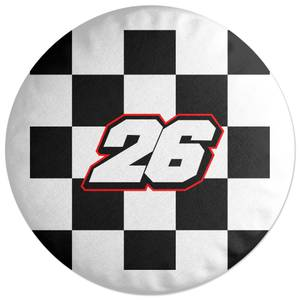 Motorcycle Number 26 Round Cushion