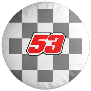 Motorcycle Number 53 Round Cushion