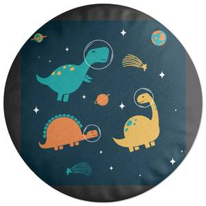 Space Dinosaur Crew Round Cushion