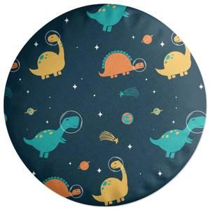 Space Dino Pattern Round Cushion