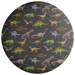 Dino Pattern Round Cushion