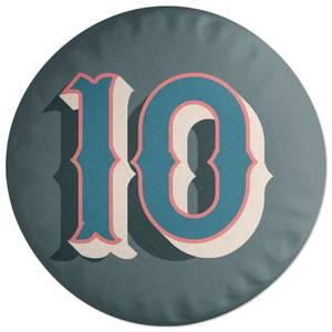 10 Round Cushion
