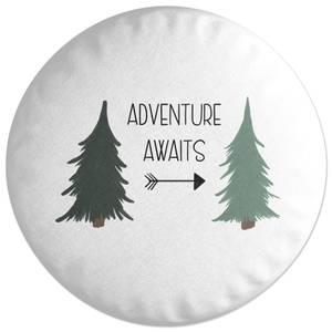 Adventure Awaits Round Cushion