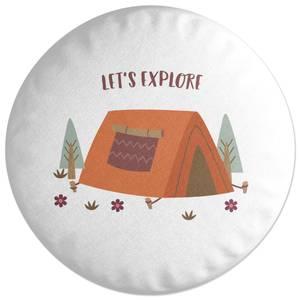 Let's Explore Round Cushion