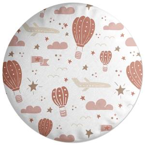 Earth Toned Kids Pattern Round Cushion