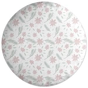 Neutral Floral Round Cushion