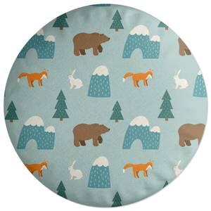 Forest Animals Round Cushion