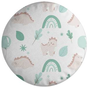 Dusty Pink Dino Round Cushion