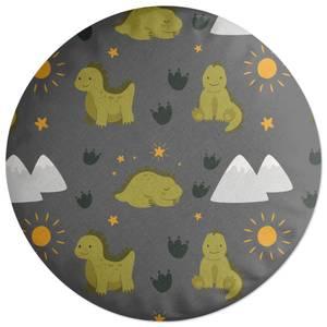 Green Dino Round Cushion