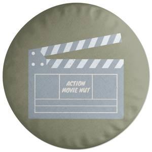 Action Movie Nut Round Cushion