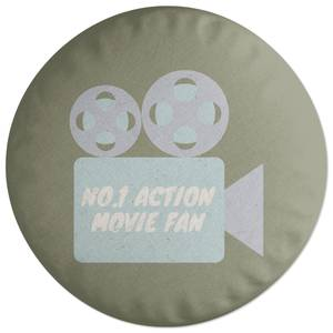 No.1 Action Movie Fan Round Cushion