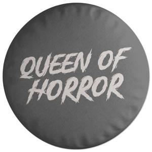 Queen Of Horror Round Cushion